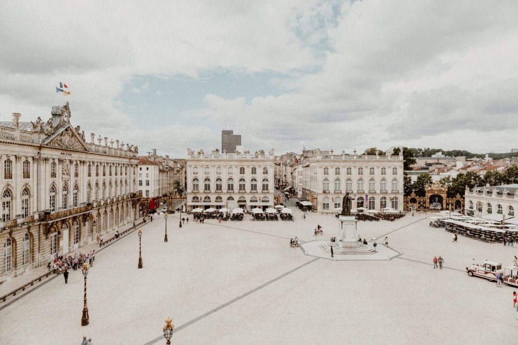 vue de la place stanislas depuis l'hotel de la Reine