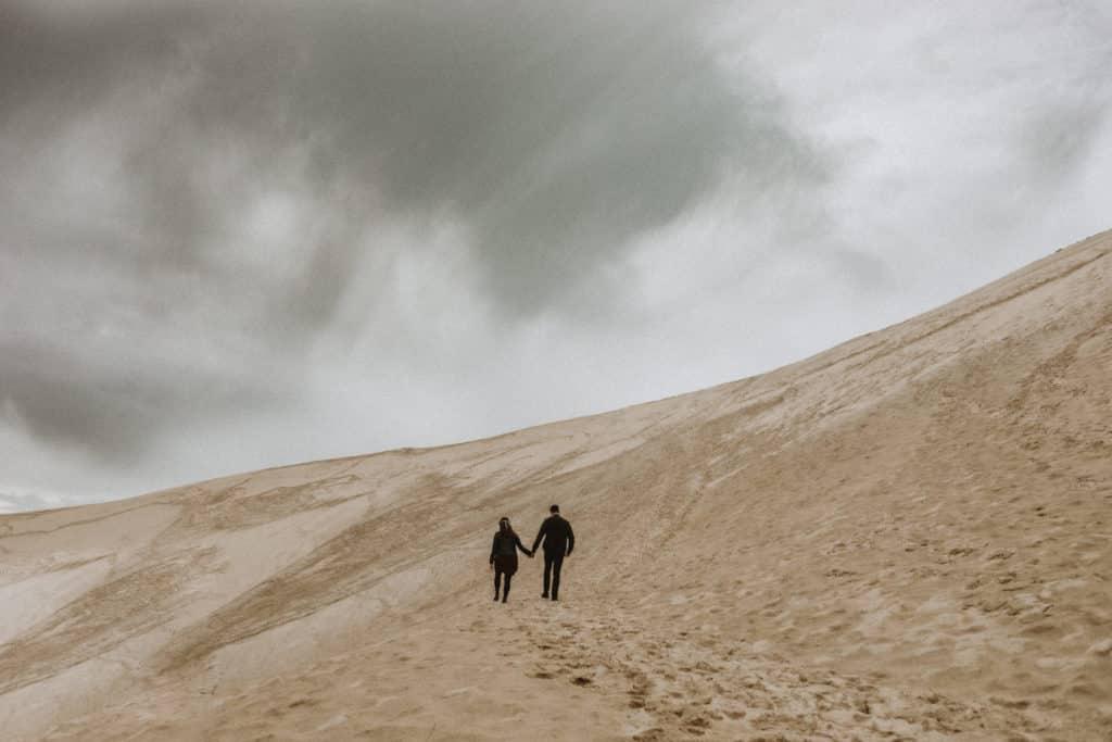 photo de couple dune du pyla
