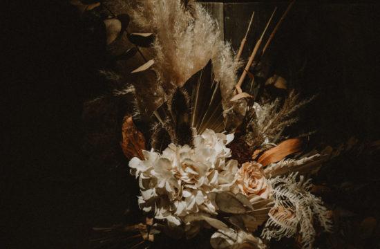 bouquet de fleurs séchées mariage